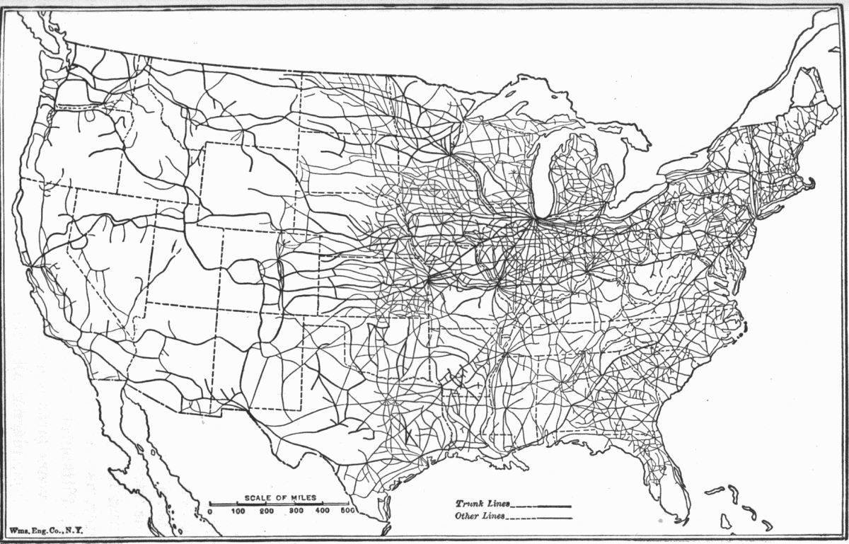 1918 US railroad map 2