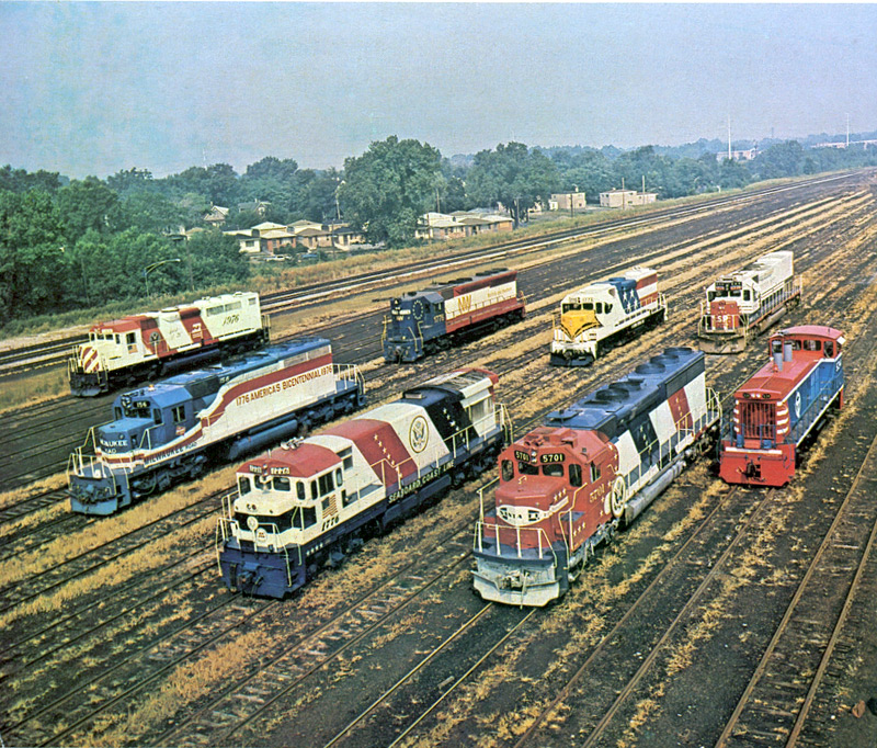 Bicentennial USA diesel locomotives