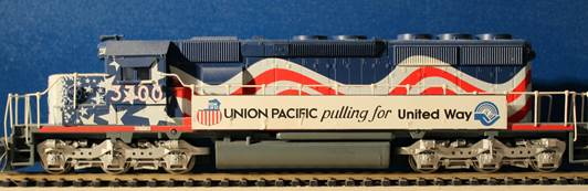 Union Pacific SD 40-2 Bicentennial Bild 01